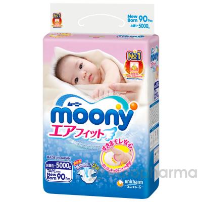 Moony подгузники NB90 (0-5 кг)