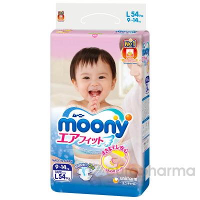 Moony подгузники L54 9-14кг