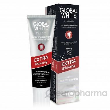 "Global white экстра отбеливающая ""Активный кислород"""