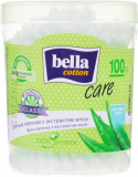 Bella ватные палочки Cotton Care с алое А100 (в круглой коробке)