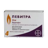 Левитра 20 мг, №4, табл.
