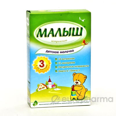 Малыш 3 Детское молочко (350г*12)