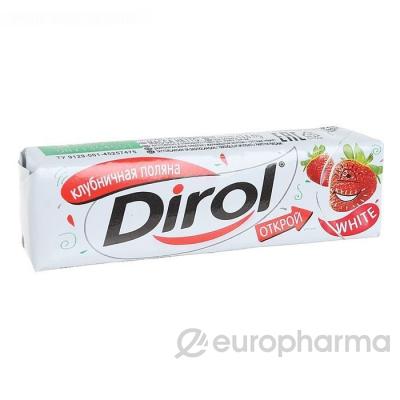 """Dirol жевательная резинка б/сахара """"Клубничная поляна"""" 13,6 гр"""