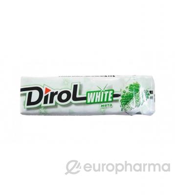 "Dirol White жевательная резинка без сахара ""Мята"" 13,6 г"