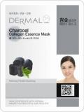 Dermal маска коллаген эссенция для лица с угольным порошком