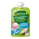 Heinz пюре яблоко-земляника сливки, пауч 90 г