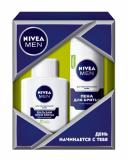 """Nivea набор """"Для чувствительной кожи""""(гель для бритья+бальзам после бритья)"""