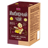 Вio National чай имбирный черный с медом и лимоном 1,7 г №20 пак