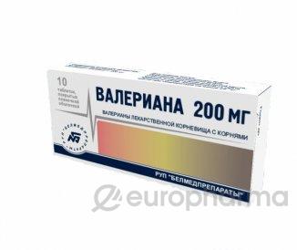 Валериана 200 мг №50,табл