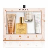 "Nuxe набор ""Prodigieuxl"" (лосьон д/тела 100 мл+масло д/душа 100 мл,в подарок косметичка)"