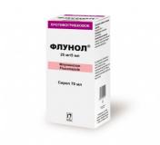 Флунол 25 мг/5 мл  70 мл сироп