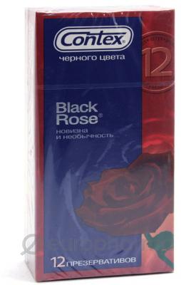 Презервативы Contex Black Rose №12, (черного цвета)