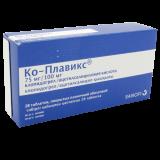 Ко-плавикс 75 мг № 28 табл п/плён оболоч