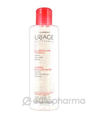 Uriage вода мицеллярная термальная  для снятия макияжа для кожи,склонной к покраснениям 250 мл