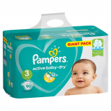 Pampers подгузники детские Active Baby GP (№3) 90