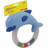 """Мир Детства Игрушка-погремушка """"Дельфин"""" (в форме кольца с дельфином) 3 мес+"""
