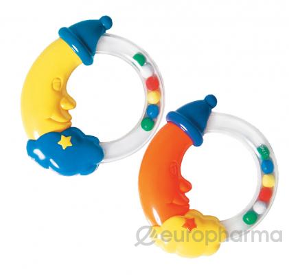 """Курносики игрушка-погремушка """"Месяц"""" (в форме кольца с месяцем) 3+"""