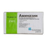 Аминазин 2,5 %, 2 мл, №10, амп.