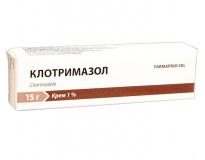 Клотримазол 1% 15 гр крем