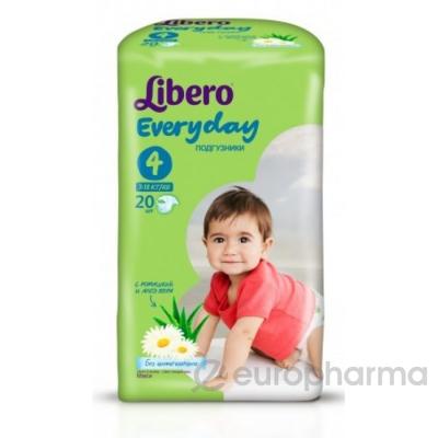 Libero Подгузники Everyday Maxi 4 №20 (5385/5389)