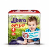 Libero Подгузники Up & Go maxi 4 №18 (5582)