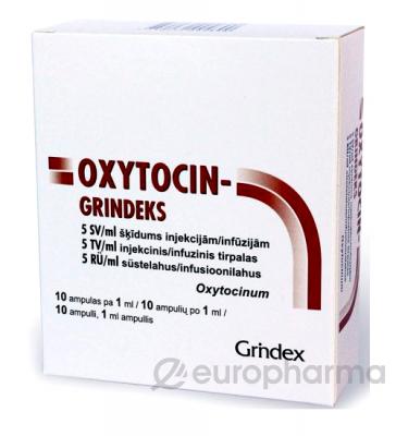 Окситоцин 5 МЕ 1 мл №10,амп