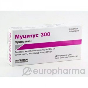 Муцитус 300 мг, №30, капс.