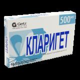 Кларигет 500 мг № 10 табл п/плён оболоч