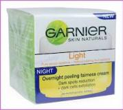 Garnier крем Лайт отбеливающий и защищающий ночной пилинг  18 мл