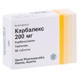 Карбалекс 200 мг, №50, табл.