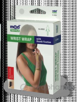 Бандаж на лучезапястный сустав с фиксацией пальца МеdTextile арт 8552,S/M