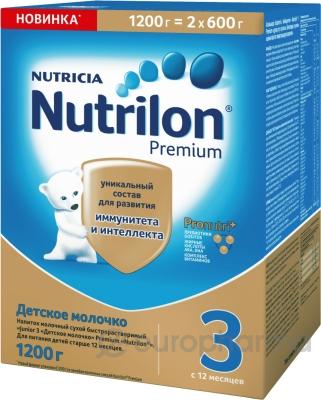 Nutricia молочко Premium 3 для детей с 12 месяцев 2*600 г