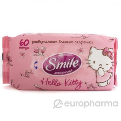 Smile салфетки влажные Hello Kitty 60 шт