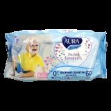 Aura салфетки влажные ультра комфорт для детей № 60 шт