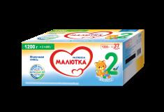 Малютка молочная смесь 2 для детей с 6 месяцев 2*600 г