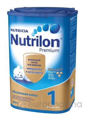 Nutrilon смесь Premium 1 молочная для детей с 0 месяцев 800 г