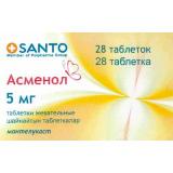 Асменол 5 мг, №28, табл. жев.