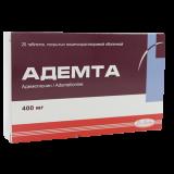 Адемта 400 мг № 20 табл покр кишечнораст оболочкой