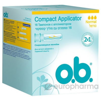 o.b тампоны  Compact Applicator normal №16