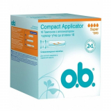 o.b тампоны  Compact Applicator super №16
