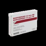 Макромицин 3 млн. МЕ № 10 табл покрытые оболочкой