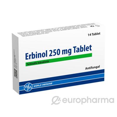 Эрбинол 250 мг №14 табл