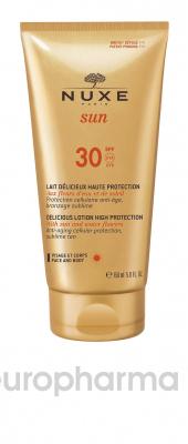 Nuxe лосьон солнцезащитный для лица и тела SPF30 SUN 150мл