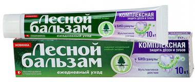 Лесной бальзам зубная паста с биогранулами 75 мл