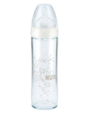 NUK Бутылка стекло New Classik с силиконовой соской (р1) соска FC+ 240 мл