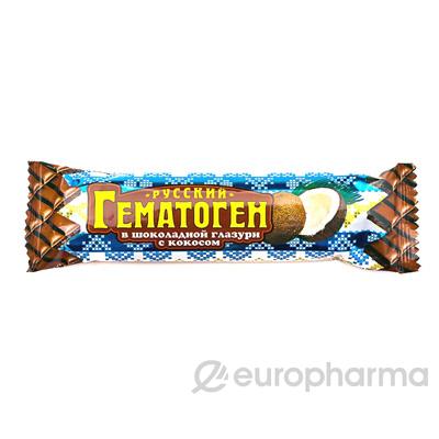 Гематоген русский кокос в шоколаде 40 гр