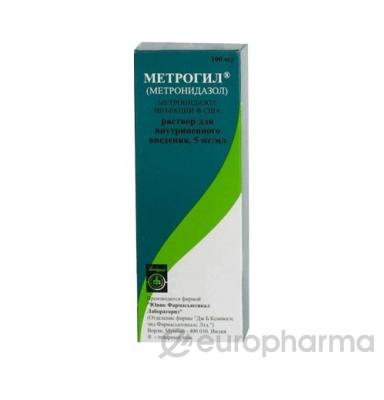 Метронидазол 0,5%, 100 мл, фл.