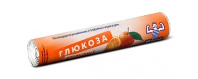 Глюкоза с витамином С с натур.плодовыми порошками №18 табл апельсин