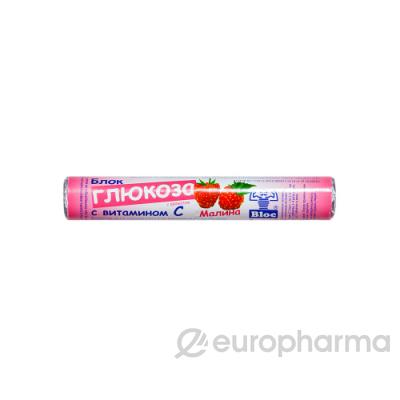 Глюкоза с витамином С с натур.плодовыми порошками №18 табл малина