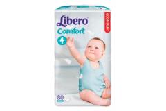 Libero Подгузники NEW Comfort  Maxi`80 (4) эконом (5528)